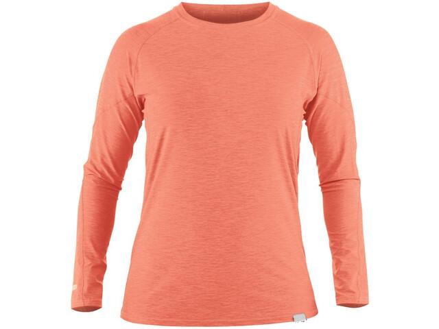 NRS H2Core Silkweight Camiseta Manga Larga Mujer, naranja